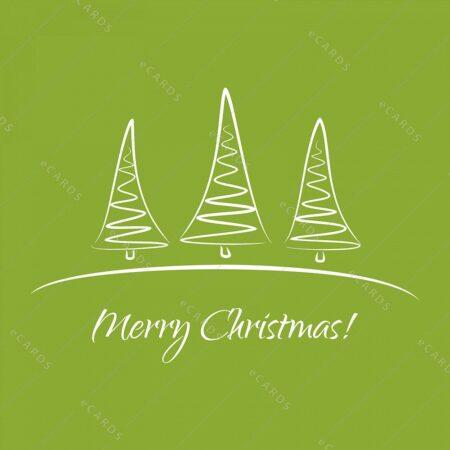 Božična drevesa - voščilnica GC0092
