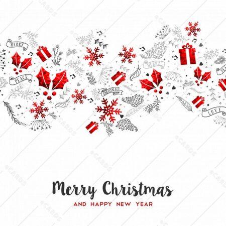 Dekorativna božično novoletna - voščilnica GC0120