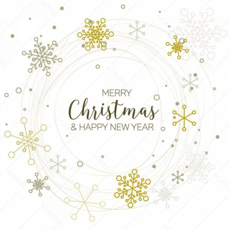 Retro enostavna božično novoletna - voščilnica GC0138