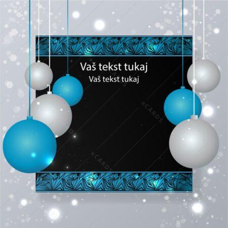 Retro enostavna božično novoletna - voščilnica GC0140