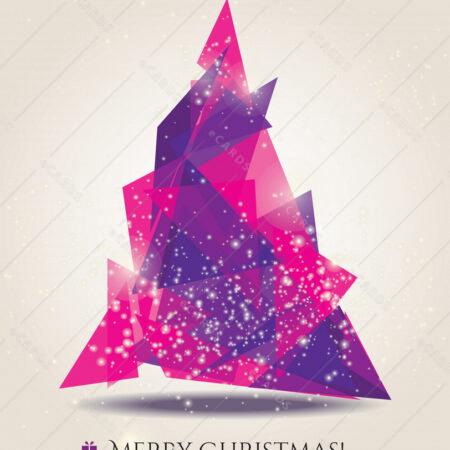 Abstraktni božič, moderni elementi - voščilnica GC0002