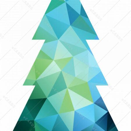 Abstraktno božično drevo - voščilnica GC0003