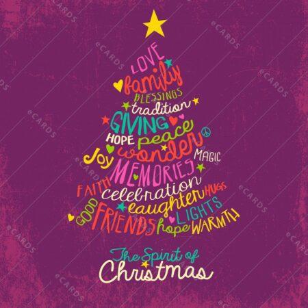 Božična jelka ročno risana - voščilnica GC0077