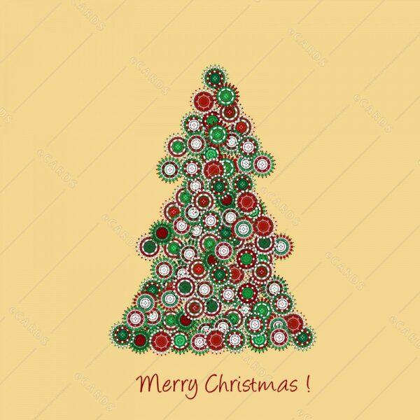 Božična jelka - voščilnica GC0072
