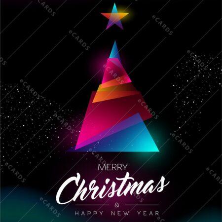 Božična jelka z gradienti - voščilnica GC0109