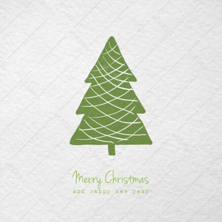 Božična ročno risana stilizirana - voščilnica GC0060