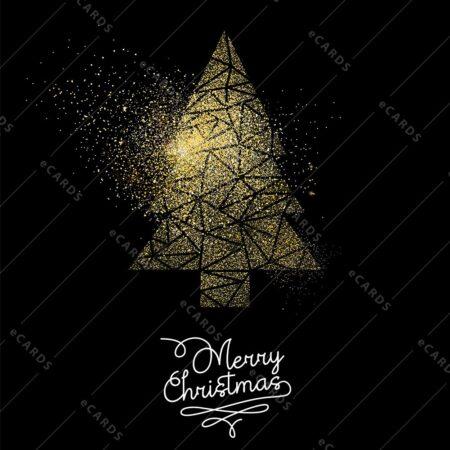 Božična zlata jelka - voščilnica GC0057