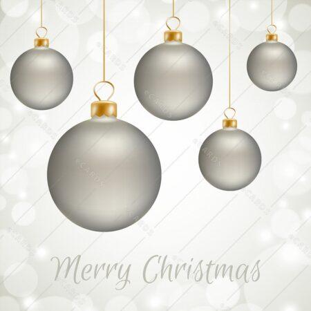 Božične kroglice - voščilnica GC0028