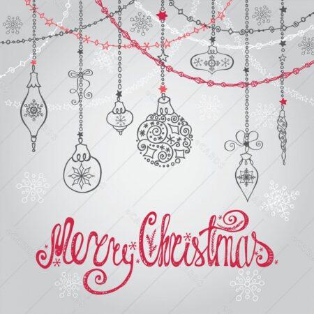 Božične kroglice z napisi - voščilnica GC0042