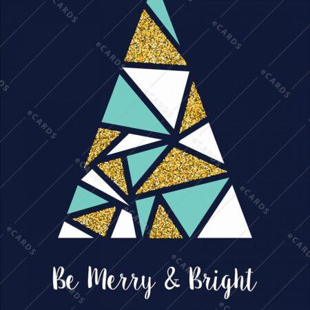 Božično abstraktno svetleče drevo - voščilnica GC0056