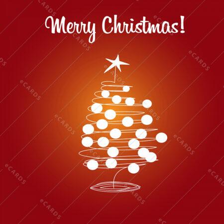 Božično drevo in bunkice - voščilnica GC0007