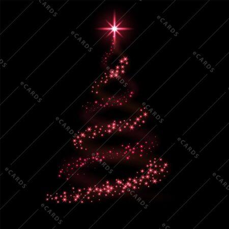 Božično drevo rdeče - voščilnica GC0071
