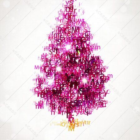 Božično drevo v ozadju - voščilnica GC0070