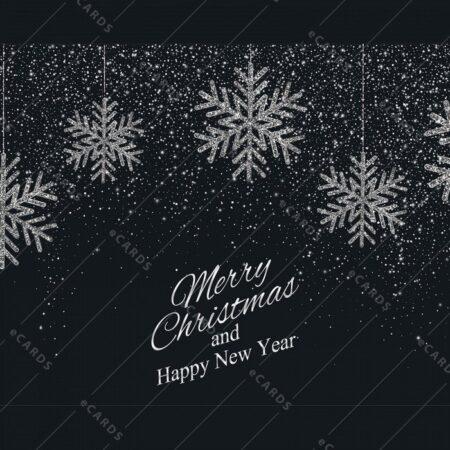 Božično novoletno ozadje srebrne snežinke - voščilnica GC0066