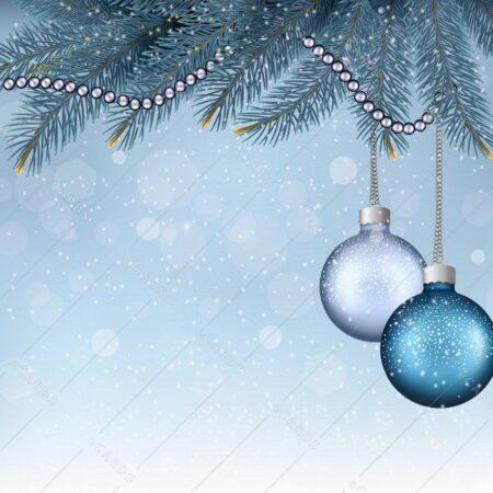 Božično ozadje bunkice na veji - voščilnica GC0024