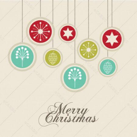 Dekorativne bunkice vesel božič - voščilnica GC0100