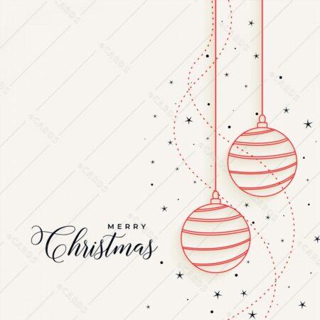 Elegantne božične viseče bunkice - voščilnica GC0083