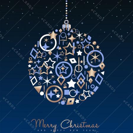 Kuglica dekoracija za božič in novo leto - voščilnica GC0011
