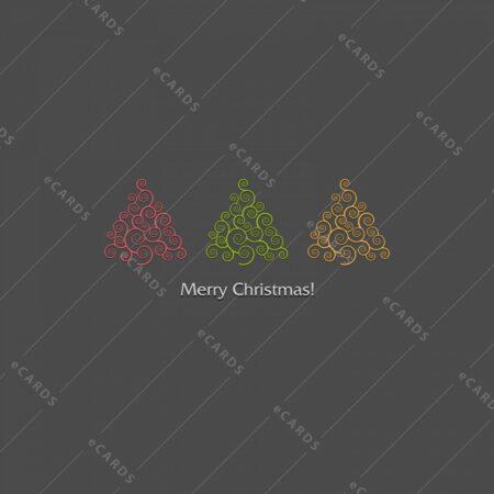 Praznični dizajn božičnih jelk - voščilnica GC0084