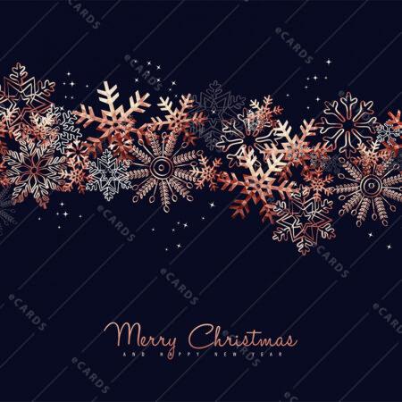 Snežinka barvna za božič in novo leto - voščilnica GC0012