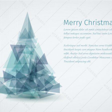 Sodobna božično novoletna jelka - voščilnica GC0130