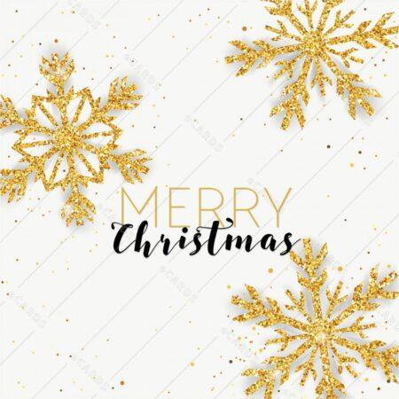 Vesel božič s svetlikajočimi snežinkami - voščilnica GC0113
