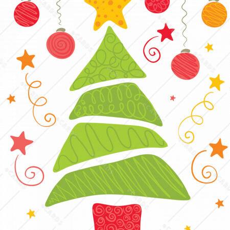Veselo božično drevo - voščilnica GC0008
