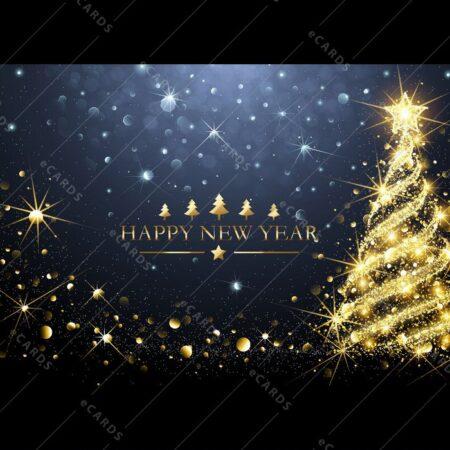 Zlato božično drevo - voščilnica GC0089